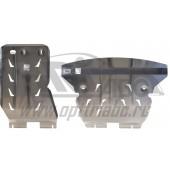 Защита картера двигателя и кпп BMW X1 задний привод V-1,8 (2011-)  из 2-х частей (Алюминий 4 мм)