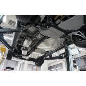Защита днища Acura MDX'16 V-3,5 АКПП (2014-) из 3 частей (без защиты картера) (Алюминий 4 мм)