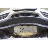 Защита днища Acura MDX'16 V-3,5 АКПП (2014-) из 4 частей (Алюминий 4 мм)