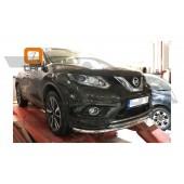 Защита переднего бампера Nissan X-Trail (2014-) (двойная) d 60/42