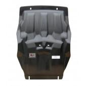 Защита картера двигателя и кпп Ford Ranger V-2,2TD; КПП-все(2012-)+РК, из 2х частей (Композит 8-10 мм)