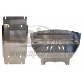 Защита картера двигателя и кпп Infiniti (Инфинити) Q50 V-2,0 AT(2014-), из 2-х частей (Алюминий 4 мм)