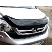 Дефлектор капота Honda (Хонда) CR-V (2010-2012) (темный)