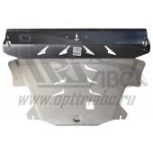 Защита картера двигателя и кпп Volvo (Вольво)XC60(08-)/XC70(07-)/S60(00-09-)/S80(98-06-)(2WD)V-все/Ford S-Max/Mondeo крV-2,0(245л.с)(06-14) (Ал4 мм)