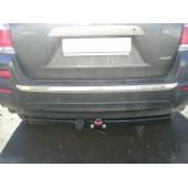 Фаркоп для Toyota Highlander (Тойота Хайлендер) (2010-2013)  крюк тип F ( грузоподъемность 1500 кг) без электрики