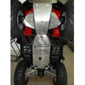 Защита днища и рычагов ATV Honda (Хонда) TRX680FA V-680 (2016-) (Алюминий 4 мм)