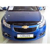 Дефлектор капота Chevrolet Cruze (Шевроле Круз) (2009-) (темный)
