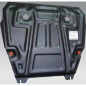 Защита картера двигателя и кпп Nissan X-Trail (Ниссан Икстрейл) (T31) V-все (2007-2014) / Renault Koleos V-все (2008-)  штамп. (Сталь 1,8 мм)