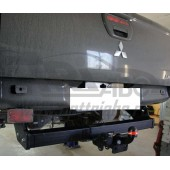 Фаркоп для Mitsubishi L200 (2014-07.2015)  крюк тип F ( грузоподъемность 1500 кг) (без электрики)