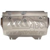 Защита картера двигателя и кпп Skoda Rapid (Шкода Рапид) V-все(14-), FABIA(2010-)/ Audi (Ауди) A1 (2010-)/VW Polo SD V-все (2010-) (Алюминий 4 мм)