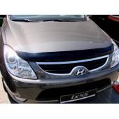 Дефлектор капота Hyundai Ix55 (2008-) (темный)