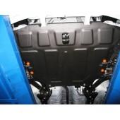 Защита картера двигателя и кпп Hyundai Accent ТагАЗ (V-все, 2000-) штамп. (Сталь 1,8 мм)