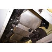 Защита днища Ford Ranger V-2,2TD; КПП-все(2012-) (алюмин.) 2 ч.