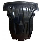 Защита картера двигателя и кпп MB ML350, кузов 166, V-3,5; 3,0TD (2011-) , из 2-х частей, (Карбон 10 мм)