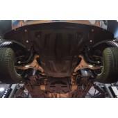 Защита картера двигателя и кпп MB ML350, кузов 166, V-3,5; 3,0TD (2011-) , из 2-х частей, (Композит 10 мм)