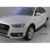 Пороги алюминиевые (Ring) Audi (Ауди) Q3 (2011-)