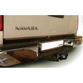 Фаркоп для Nissan Navara (бампер со ступенькой) (2005-) крюк тип F ( грузоподъемность 2000 кг) .