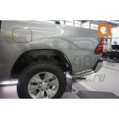 Защита заднего бампера Toyota Hilux (2015-) (уголки) d76