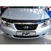 Дефлектор капота Hyundai NF (2006-) (темный)