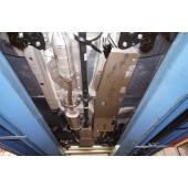 Защита днища Honda CR-V;V-2,0;2,4(2007-2012)из 3 частей(алюмин.)