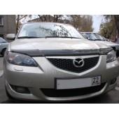 Дефлектор капота Mazda (Мазда) 3 Sedan (2005-2009) (темный)