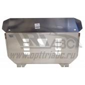 Защита картера двигателя и кпп Kia Sorento Prime (Киа Соренто) V-все (2015-)  (Алюминий 4 мм)