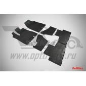 Коврики резиновые с рисунком Сетка ACURA MDX (2013-) задние коврики с перемычкой