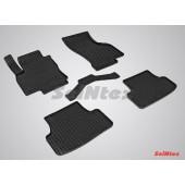 Коврики резиновые с рисунком Сетка AUDI А3 (2012-) задние коврики с перемычкой