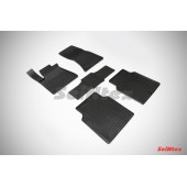 Коврики резиновые с рисунком Сетка AUDI A8 III (D4) (2010-2013) задние коврики с перемычкой