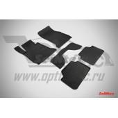 Коврики резиновые с рисунком Сетка BMW 1 Ser F-20-21 (2013-) задние коврики с перемычкой