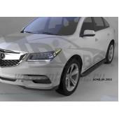 Пороги алюминиевые (Corund Black) Acura MDX (2014-)