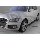 Пороги алюминиевые (Corund Black) Audi (Ауди) Q5 (2009-)