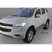 Пороги алюминиевые (Topaz) Chevrolet TrailBlazer (2013-)