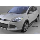 Пороги алюминиевые (Topaz) Ford Kuga (2013-)