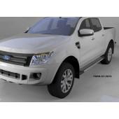 Пороги алюминиевые (Topaz) Ford Ranger (2012-)