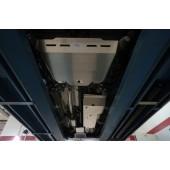 Защита днища Honda CR-V; V-2,0 (2012-2014-), V-2,4 (2012-2014)  из 3 частей (Алюминий 4 мм)