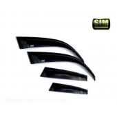 Дефлекторы боковых окон Fiat Albea (2006-) (темный) (4дв)