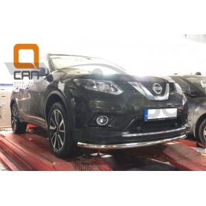 Защита переднего бампера Nissan X-Trail (2014-) (одинарная) d 60