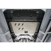 Защита картера двигателя и кпп Kia Ceed (Киа Сид) V-все(12-)/Cerato V-все(12-)/Hyundai I30(12-)/Hyundai Elantra(11-)  (Алюминий 4 мм)