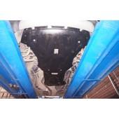 Защита картера двигателя и кпп BMW X5 V-3,5; 5,0; 3,0TD (2011-10.2013)  из 2-х частей (Композит 8 мм)