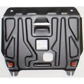 Защита картера двигателя и кпп Hyundai Solaris (Хёндай Соларис) V-1,4; 1,6(2010-2014-) / Kia Rio (Киа Рио) (V-все, 2011-2015-)  штамп. (Сталь 1,8 мм)
