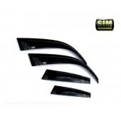Дефлекторы боковых окон Fiat Bravo (2007-) (темный) (4дв)