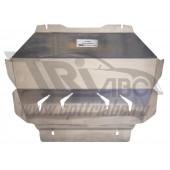Защита радиатора Infiniti (Инфинити) QX80 (2014-) (QX56 (2010-2014-)) крепеж штатный (Алюминий 4 мм)