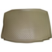 Коврик багажника для Hyundai Solaris (Хёндай Соларис) Седан (для автомоб. со склад. сидениями) (2010-)(беж)