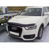 Дефлектор капота Audi (Ауди) Q3 (2011-) (темн.)