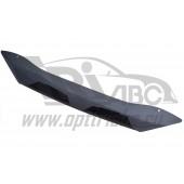 Дефлектор капота Mitsubishi Lancer (Митсубиши Лансер) (2011-) (короткий) (темн.)