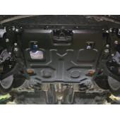 Защита картера двигателя и кпп Honda (Хонда) Accord IХ, V-2.4, (2013-) , штамп. (Сталь 1,8 мм)