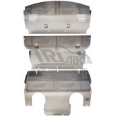 Защита картера двигателя и кпп Porsche Panamera, V-все (2013-) + радиатора  из 3-х частей (Алюминий 4 мм)