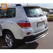Защита заднего бампера Toyota Highlander (Тойота Хайлендер) (2010-2013) (одинарная) d 60