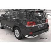 Защита заднего бампера Toyota Land Cruiser (Тойота Ленд Круизер) 200 (2007- / 2015-) (уголки) d 76/42